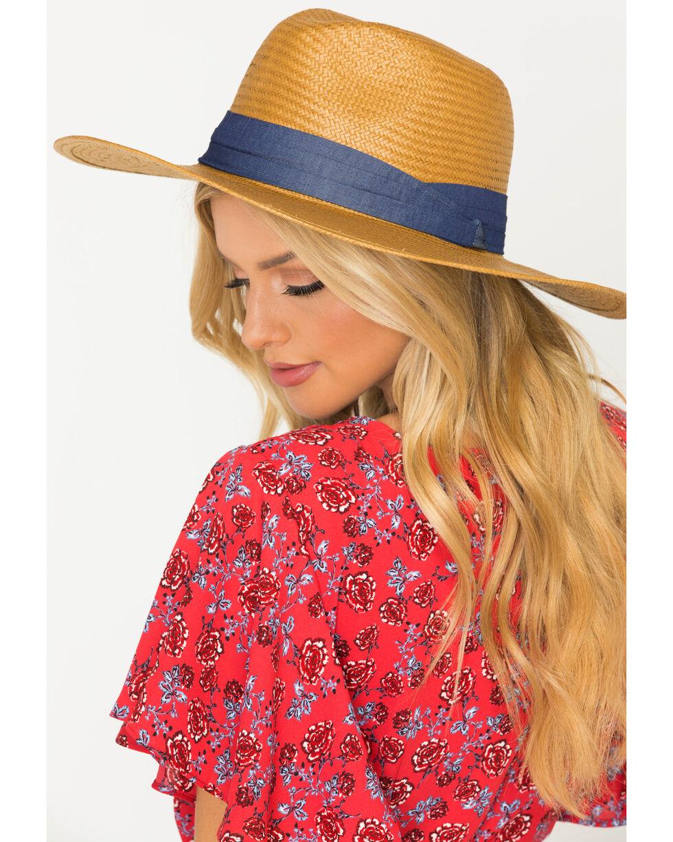 ále by Alessandra Women's Fine Panama Havana Hat, Cognac, hi-res