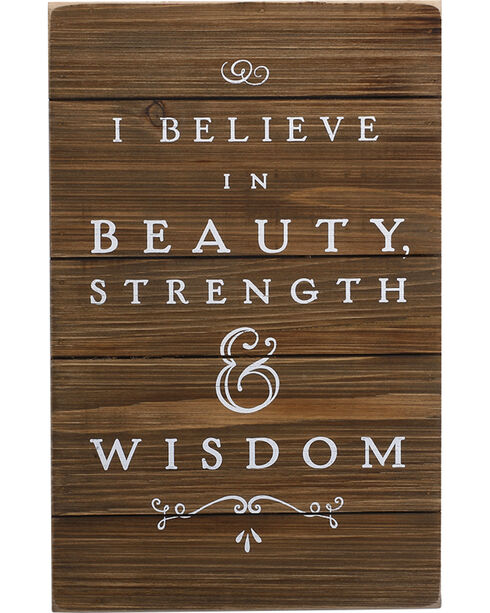 Demdaco Brown Beauty, Strength, Wisdom Wall Art , Brown, hi-res