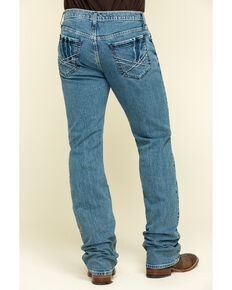 Cinch Men's Ian Medium Stone Performance Slim Bootcut Jeans , Indigo, hi-res