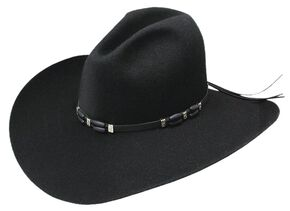 Resistol 2X Cisco Felt Cowboy Hat, Black, hi-res