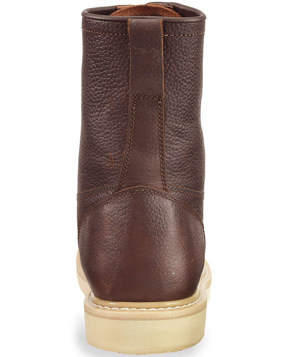 """Justin Men's Axe 8"""" Light Duty Lace-Up Work Boots - Soft Toe, Tan, hi-res"""