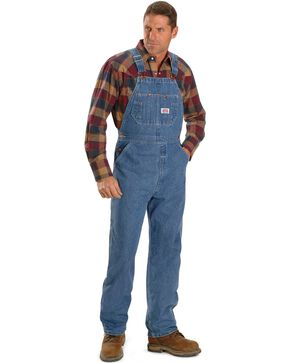 "U.S.A. Made Round House Overalls - Reg, Big. Up to 50"" Waist, , hi-res"