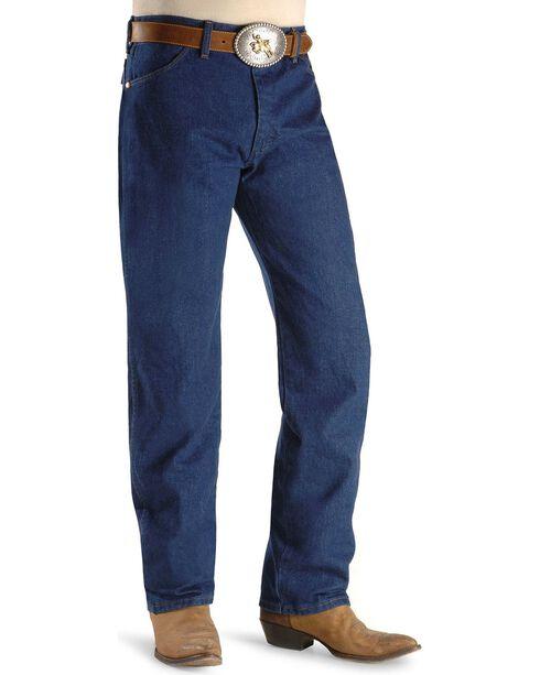 """Wrangler Jeans - 13MWZ Original Fit Prewashed Denim - Big 44"""" to 52"""" Waist, Indigo, hi-res"""