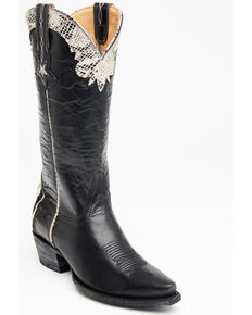 Idyllwind Women's Chaos Black Western Boots - Snip Toe, Black, hi-res