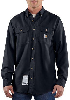 Carhartt Flame Resistant Work Shirt - Big & Tall, Navy, hi-res