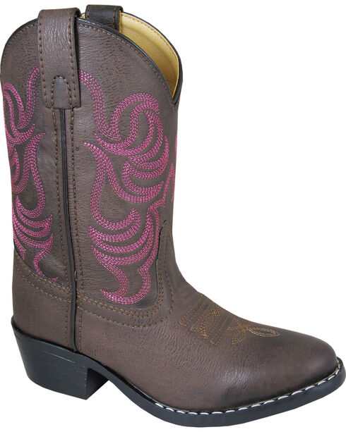 Smoky Mountain Youth Girls' Monterey Western Boots - Round Toe , Brown, hi-res