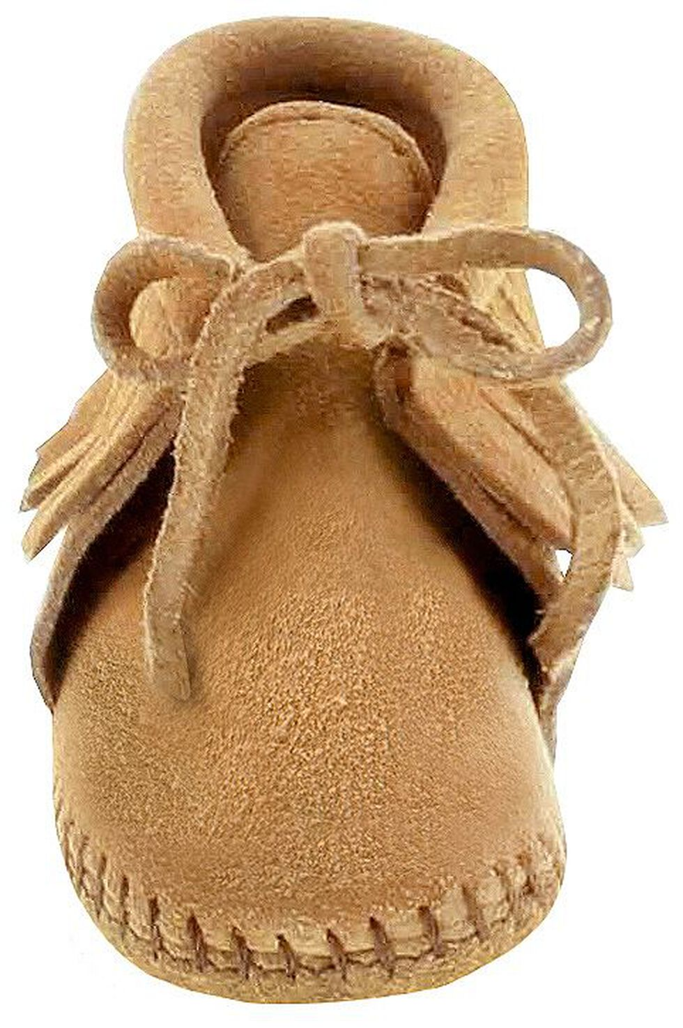 Minnetonka Infant Boys' Fringe Bootie Moccasins, Tan, hi-res