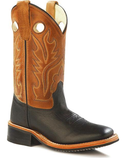 Cody James Boys' Black & Tan Cowboy Boots - Square Toe, Black, hi-res