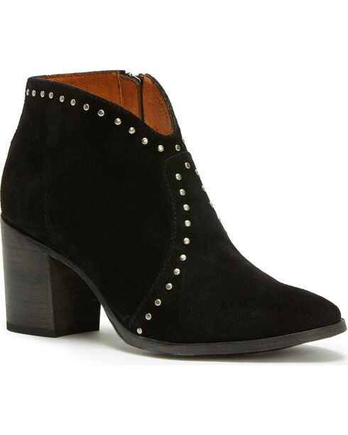 Frye Women's Black Nora Stud Sip Short Boots - Pointed Toe , Black, hi-res