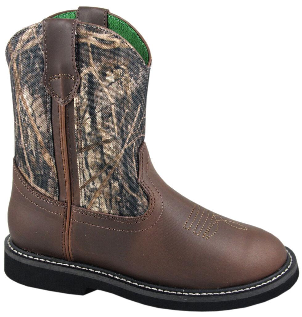 Smoky Mountain Boys' Hickory Wellington Western Boots - Round Toe, Camouflage, hi-res
