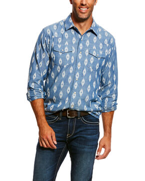 Ariat Men''s Jared Retro Print Long Sleeve Western Shirt , Multi, hi-res