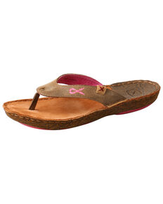 Twisted X Women's Hand Stitched Sandals, Brown, hi-res