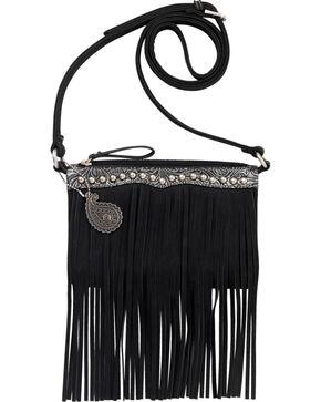 Bandana by American West Sun Valley Fringe Crossbody Bag, Black, hi-res