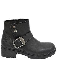 Milwaukee Motorcycle Clothing CO. Women's Capri Moto Boots - Round Toe, Black, hi-res