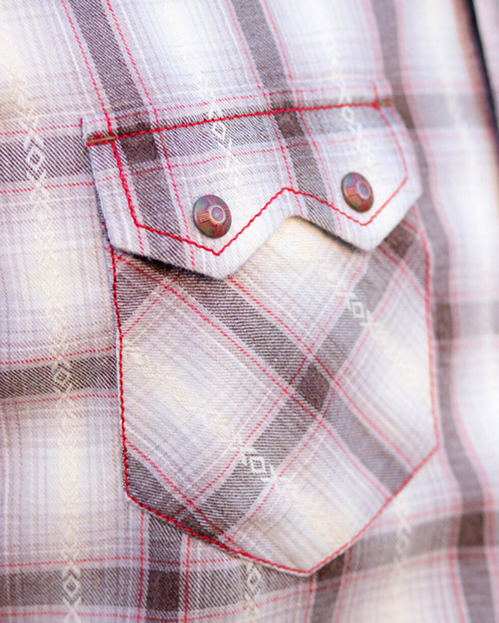 Ryan Michael Men's Sonora Desert Plaid Shirt , Cream, hi-res