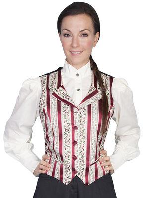 Rangewear by Scully Wallpaper Stripe Vest, Burgundy, hi-res