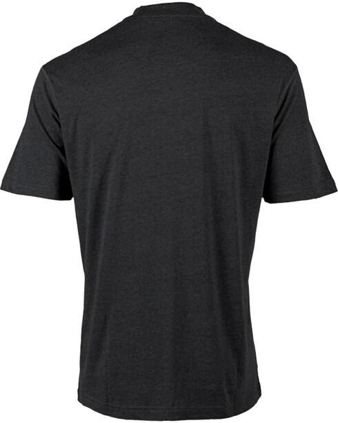 American Worker Men's Short Sleeve Henley, Black, hi-res