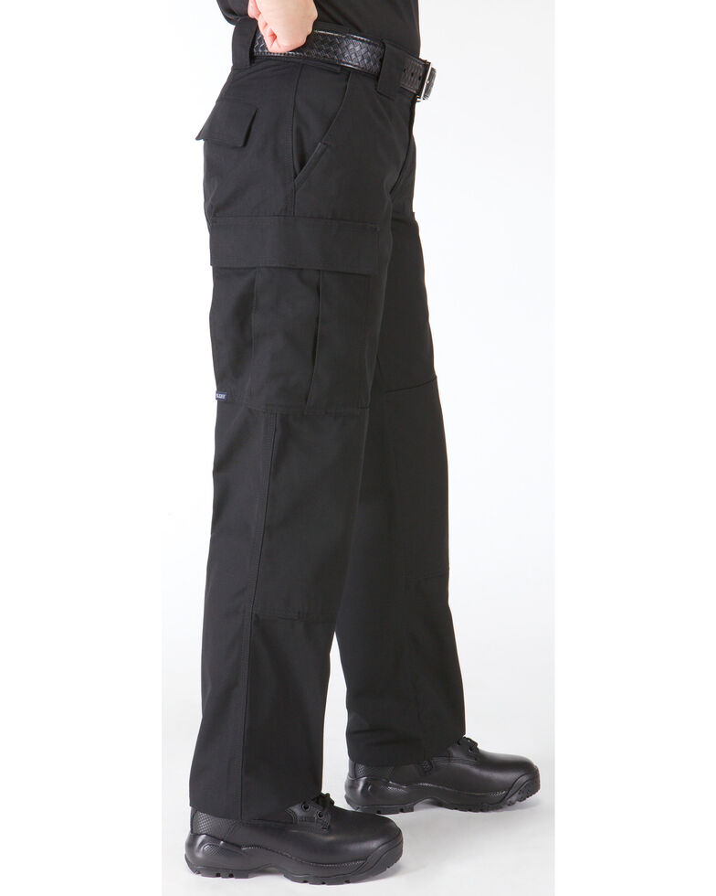 5.11 Tactical Women's TDU Pants, Black, hi-res
