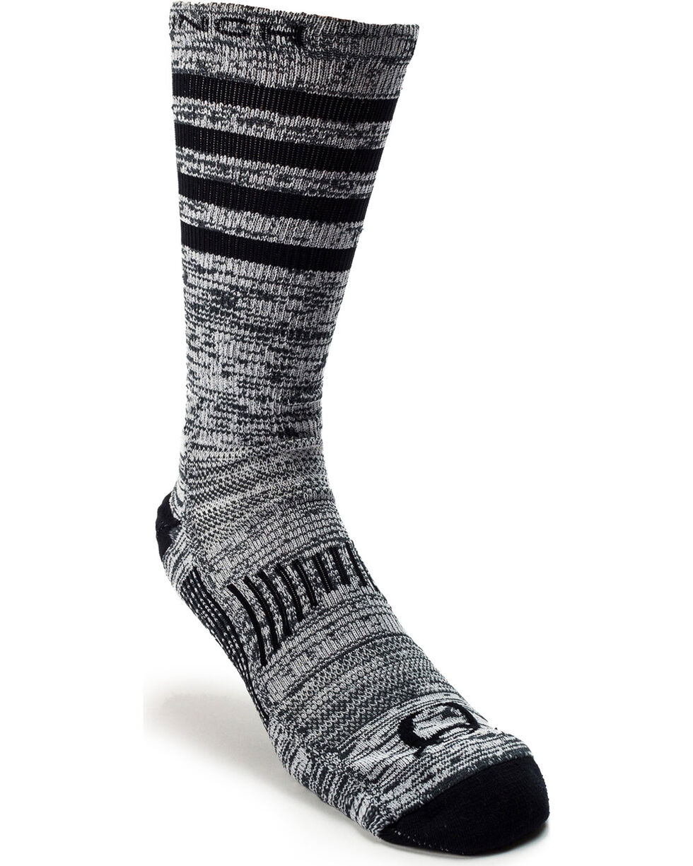Cinch Men's Performance Crew Socks , Purple, hi-res