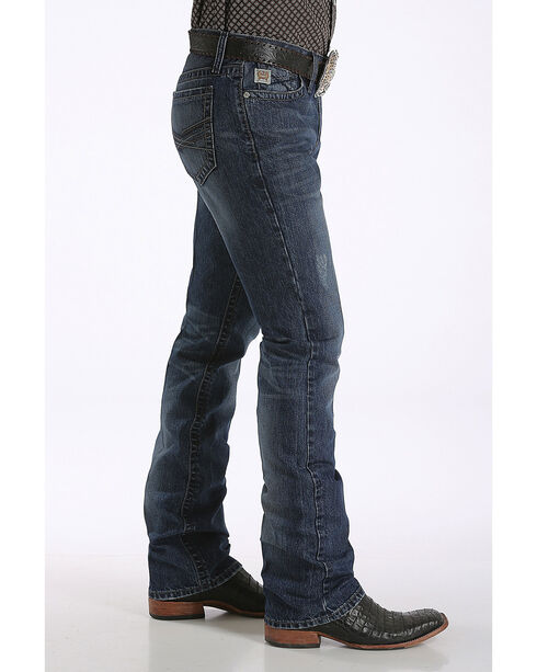 Cinch Men's Ian Dark Stonewash Slim Fit Jeans - Boot Cut, Indigo, hi-res
