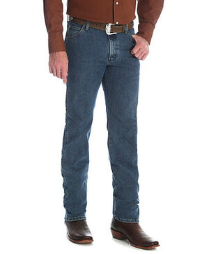 Wrangler Men's Vintage Stone Premium Performance Cowboy Cut Jeans - Big & Tall , Indigo, hi-res