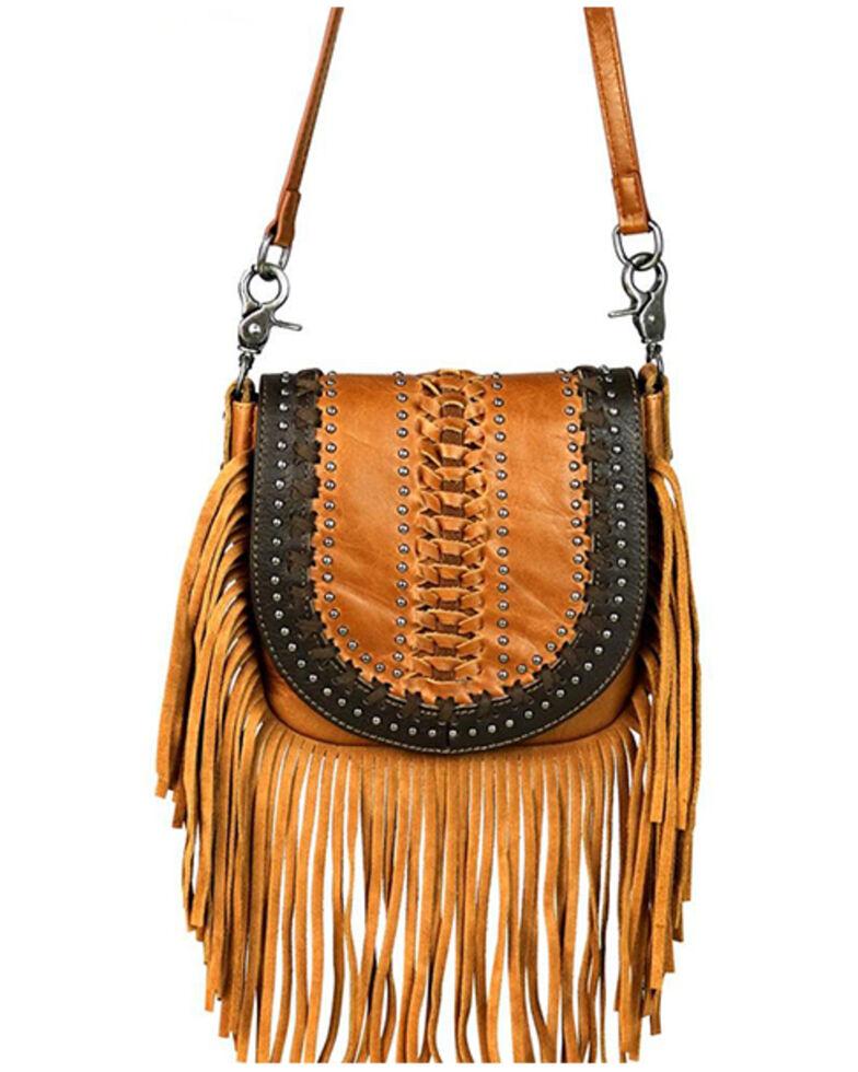 Montana West Women's Brown Fringe Crossbody Bag, Brown, hi-res