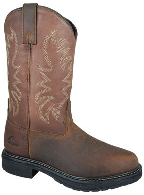 Smoky Mountain Men's Buffalo EH Work Boots - Round Toe, Brown, hi-res