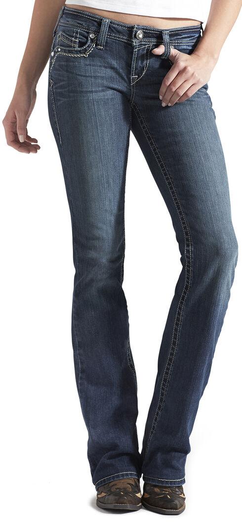 Ariat Women's Ruby 3D A Mystic Bootcut Jeans, Denim, hi-res