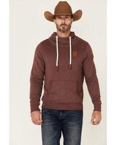 Wanakome Men's Solid Mulberry Cascade Pullover Hooded Sweatshirt , Purple, hi-res