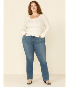Levi's Women's 415 Classic Bootcut Jeans - Plus, Blue, hi-res
