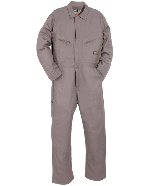 Berne Flame Resistant Deluxe Coveralls - Big Sizes, Grey, hi-res