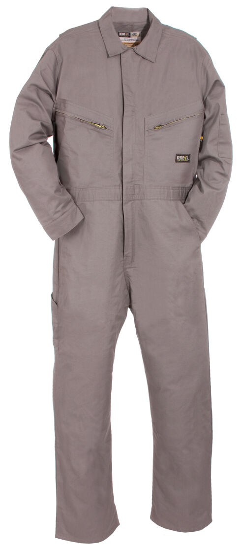 Berne Flame Resistant Deluxe Coveralls - Tall (56T - 60T), Grey, hi-res