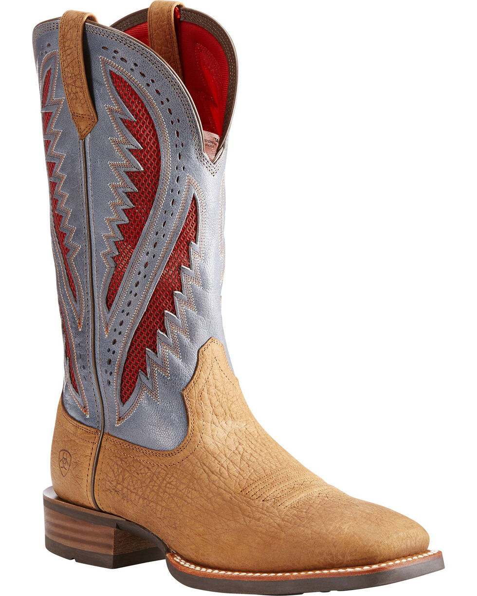 Ariat Men's Tan Quickdraw VentTEK Western Boots - Square Toe , Tan, hi-res