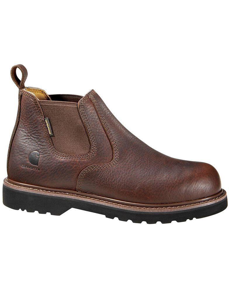 "Carhartt 4"" Twin Gore Romeo Work Shoes - Steel Toe, Dark Brown, hi-res"