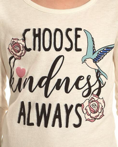 Self Esteem Girls' Choose Kindness Long Sleeve Tee and Sherpa Vest, Pink, hi-res