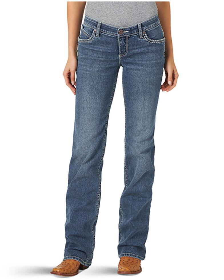 Wrangler Women's Ultimate Riding Elizabeth Shiloh Cash Bootcut Jeans , Blue, hi-res