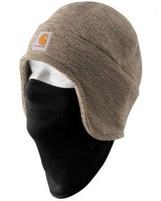 Carhartt Men's Fleece 2-In-1 Fleece Head Wear , Brown, hi-res