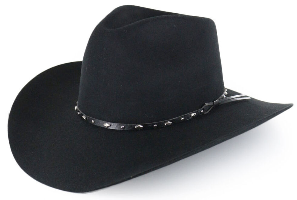 Cody James Colorado 3X Tycoon Wool Felt Cowboy Hat, Black, hi-res