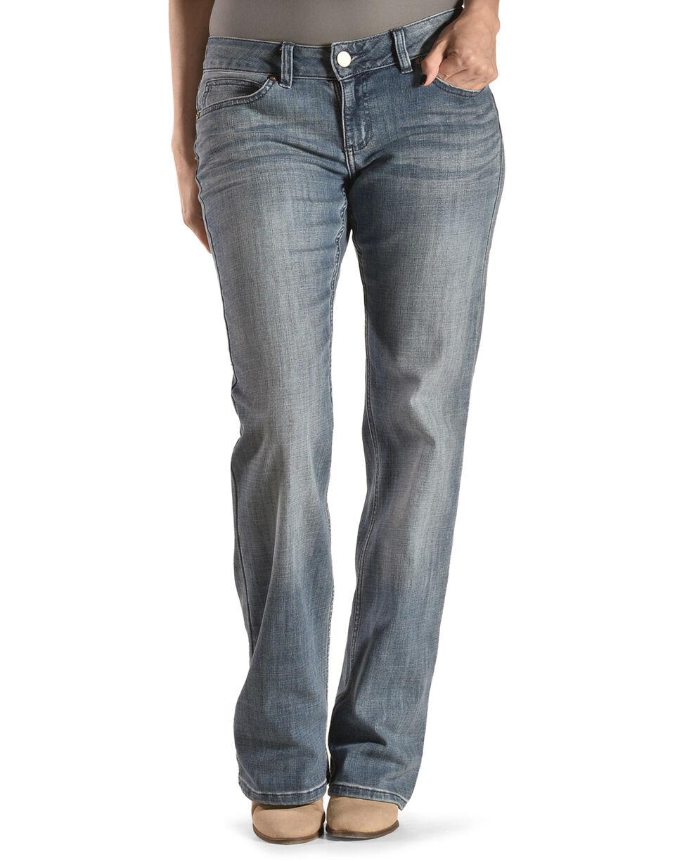 Wrangler Women's Medium Wash Boot Cut Jeans , Med Blue, hi-res