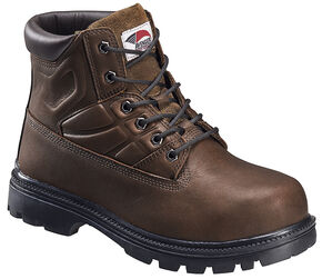Avenger Men's Brown Work Boots - Steel Toe, Brown, hi-res