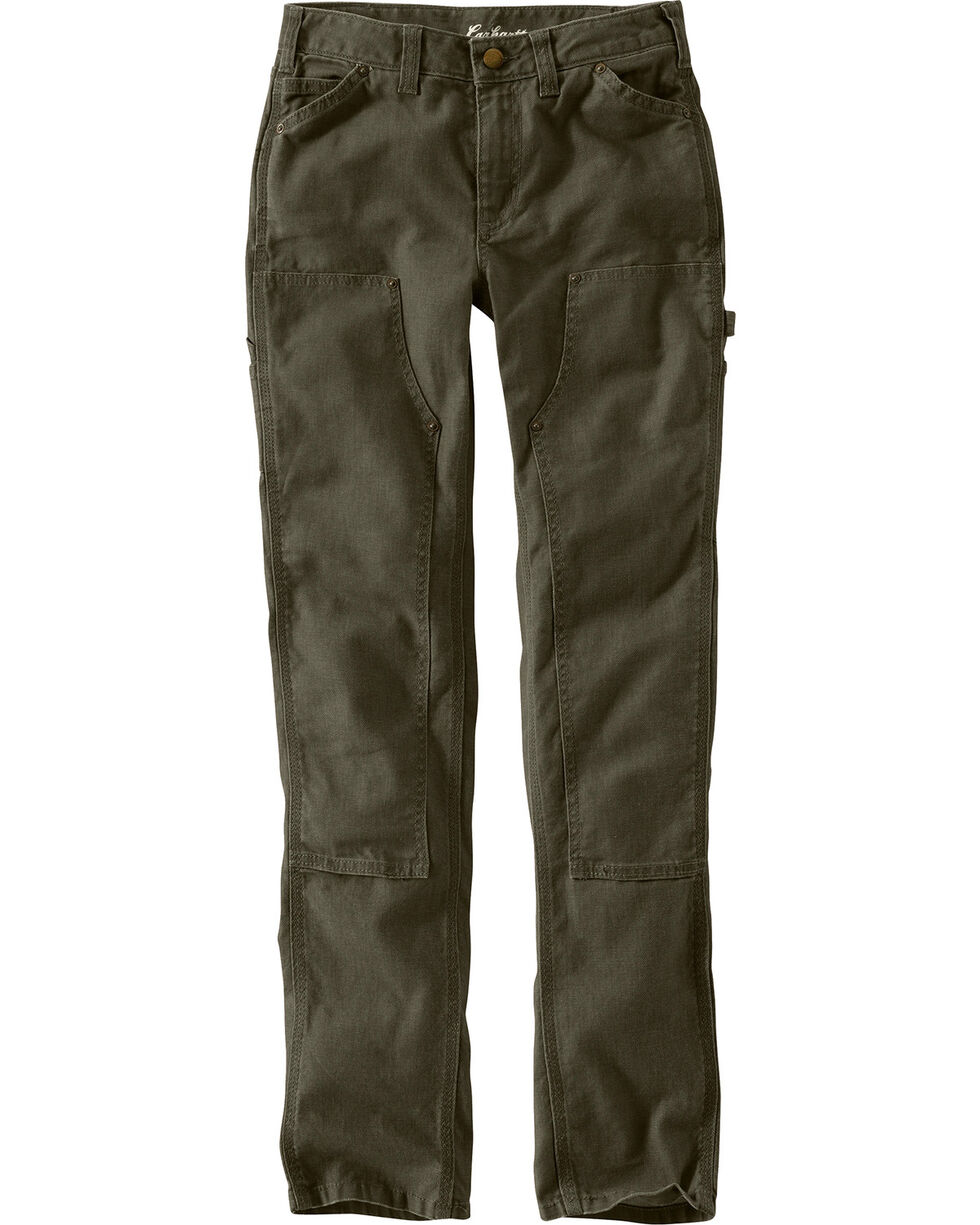Carhartt Women's Series 1889 Double Front Slim Fit Dungarees, Moss, hi-res