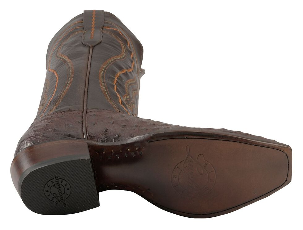 Lucchese Men's Handmade 1883 Montana Western Full Quill Ostrich Cowboy Boots - Snip Toe, Sienna, hi-res