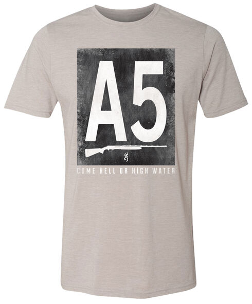 Browning Men's Block A5 Short Sleeve Tee, Silver, hi-res