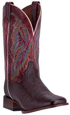 Dan Post Men's Brown Smooth Ostrich Callahan Cowboy Boots - Broad Square Toe, Brown, hi-res