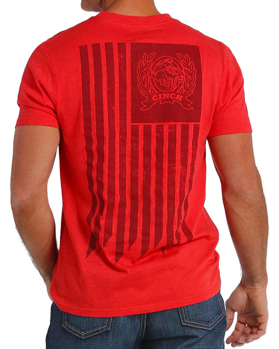 Cinch Men's American Flag Logo Tee, , hi-res