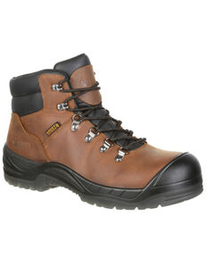 Rocky Men's Worksmart Internal Met Guard Work Boots - Composite Toe, Brown, hi-res