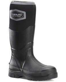 Carolina Men's Pucture Resisting Rubber Boots - Steel Toe, Black, hi-res
