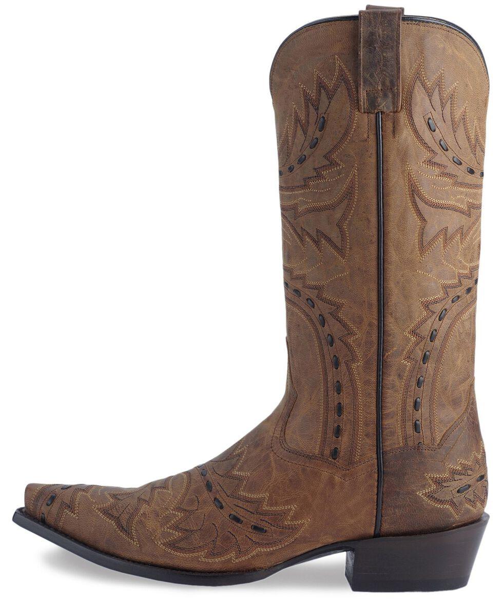 Dan Post Side Winder Distressed Cowboy Boots, Bay Apache, hi-res
