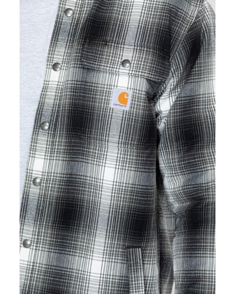 Carhartt Men's Hubbard Sherpa-Lined Shirt Jacket, Charcoal, hi-res
