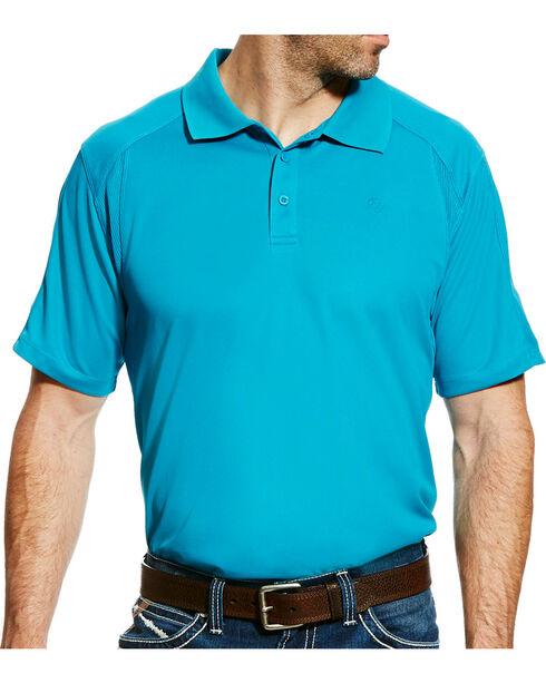 Ariat Men's AC Polo, Teal, hi-res